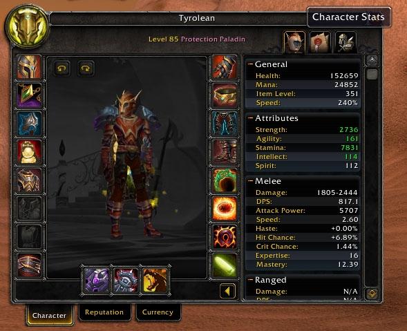 Паладины. Интерфейс персонажа с кнопками, Патч 4.1. WowRaider.Net в Googl